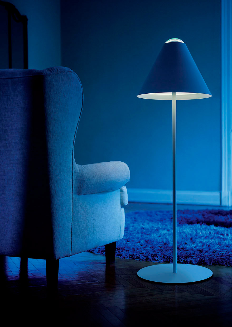 ABA 120 - Lampada alogena/LED da terra - Floor lamp with dimmer