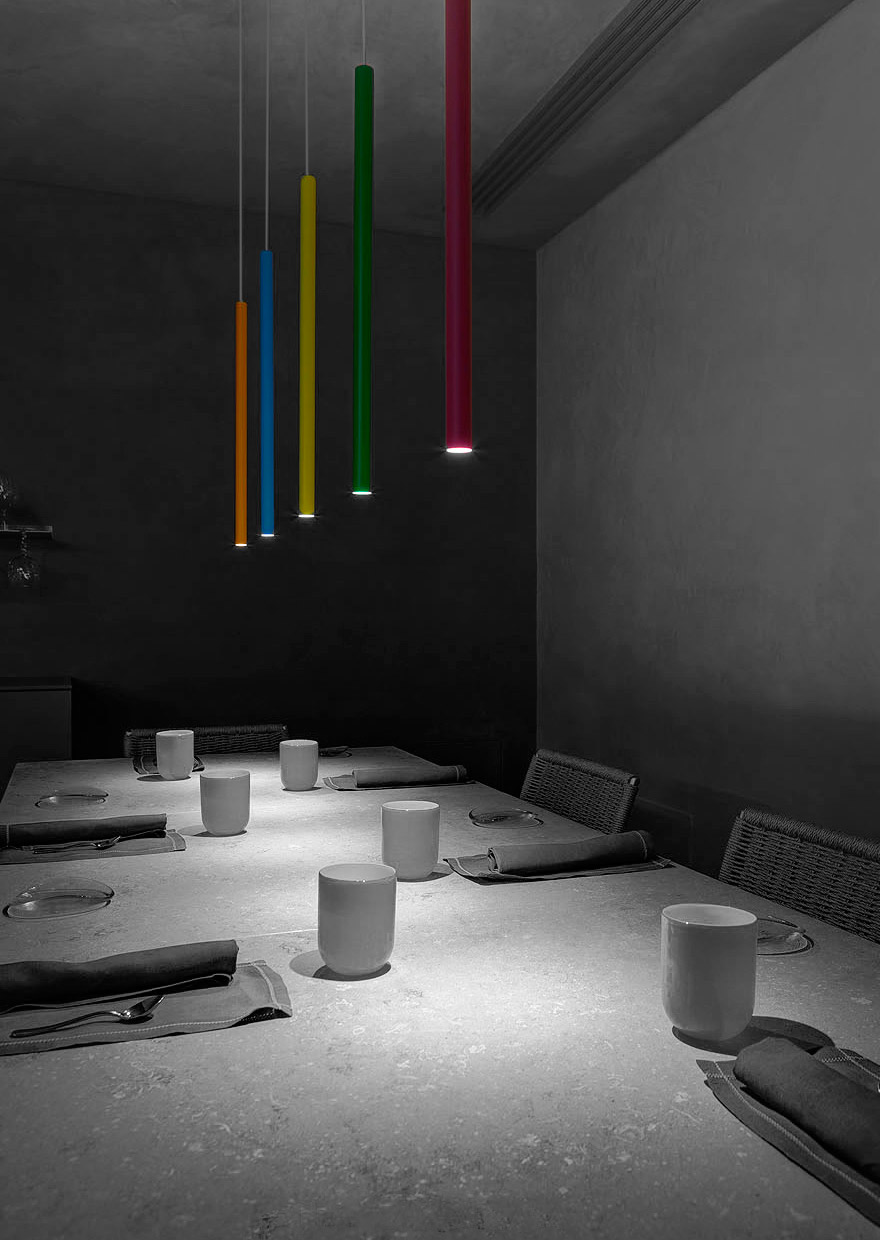Aqua Crua Restaurant - light project davide groppi