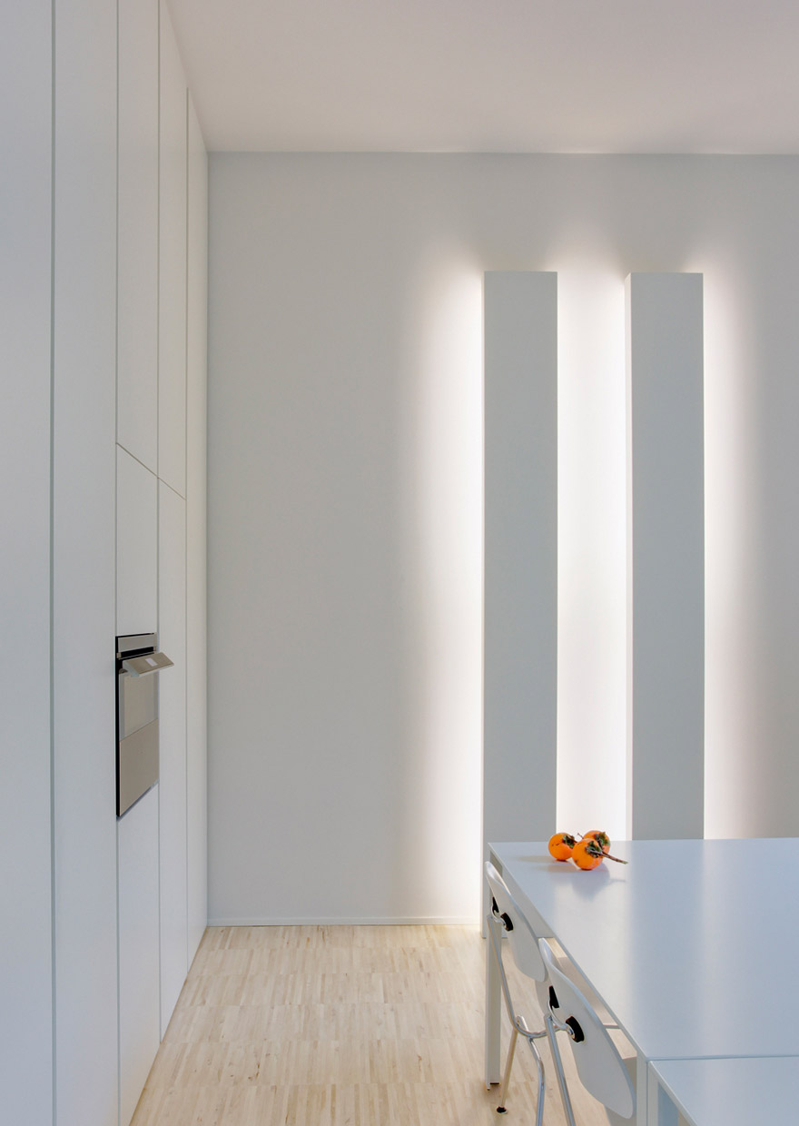 House in piacenza - light project davide groppi